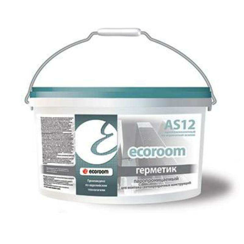 Герметик ECOROOM AS-12 для внешнего шва (7 кг)